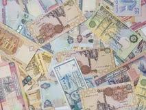 Blandade valutaanmärkningar Royaltyfri Fotografi