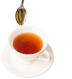 Blandande Honey With Tea III Royaltyfri Bild