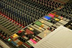 Blandande konsol på Abbey Road Studios, London Fotografering för Bildbyråer
