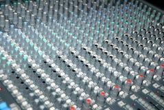 blandande ljud för konsol Royaltyfri Foto