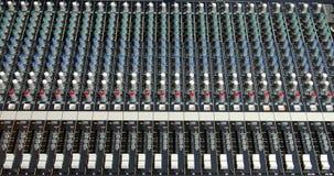 blandande ljud för konsol arkivbilder