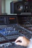 blandande ljud för konsol Royaltyfri Fotografi
