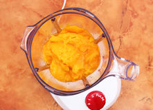Blandare med mango royaltyfria bilder