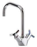 Blandareförkylningvarmvatten Modernt vattenkranbadrum Kökklapp I Royaltyfri Bild