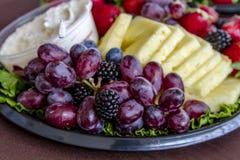 Blandat frukt- och ostmagasin arkivfoton