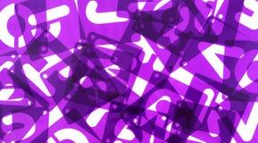 Blandat ihop alfabet för mallar för affischbrädestencil Fotografering för Bildbyråer