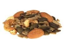 blandat nuts frö Royaltyfri Bild