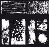 Blandat svartvitt abstrakt konstverk arkivbild