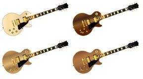 Blandat vagga gitarrer royaltyfri illustrationer