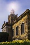 Blandford forumkyrka i vår Royaltyfria Foton