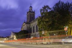 Blandfordkerk tijdens Blauw Uur Royalty-vrije Stock Foto