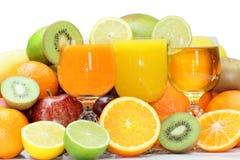 Blandning av exotiska nya frukter Arkivfoto