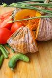 Blandning av nya grönsaker fotografering för bildbyråer