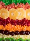 Blandning av olika torkade frukter arkivfoto