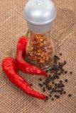 Blandning av peppar. Arkivfoton