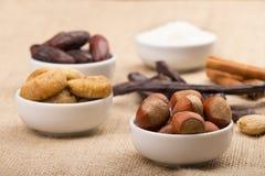 Blandning av Ramadan Sweets Arkivfoto