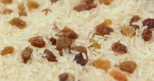 Blandning av ris och russin lager videofilmer
