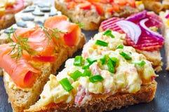 Blandning av smörgåsar Royaltyfri Fotografi