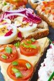 Blandning av smörgåsar Royaltyfria Foton