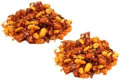 Blandning av varma kryddor och smaktillsatser Arkivfoto