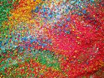 Blandning färgad sand Arkivbild