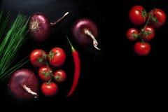 Blandning för matbakgrundsgrönsak Arkivfoto