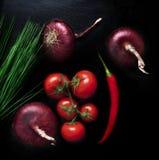 Blandning för matbakgrundsgrönsak Royaltyfria Foton