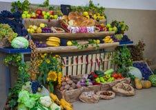 Blandning för ny frukt och grönsak royaltyfria foton