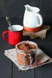 Blandning för varm choklad Fotografering för Bildbyråer