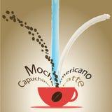 Blandningen av kaffe stock illustrationer