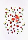 Blandningen bär frukt frukter tätt upp Sund bakgrund Nytt äta, bantar Royaltyfri Bild