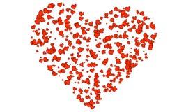 blandningen colors den globala hjärtavektorn tecknad hand Arkivbild