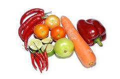 Blandninggrönsaker som isoleras på vit Royaltyfri Fotografi