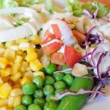 Blandninggrönsaksallad, sund mat Royaltyfri Fotografi