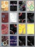 Blandningsamlingsreklamblad Arkivbild