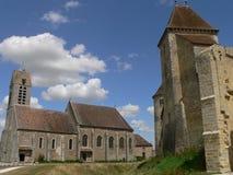 Blandy-les-Tours ( France ). Chauch and castle, Blandy-les-Tours, Seine-et-Marne ( France Royalty Free Stock Photo
