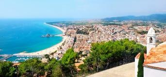 Blanes beach. Costa Brava, Catalonia, Spain Stock Photography