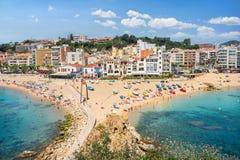 Blanes beach. Costa Brava, Catalonia, Spain Royalty Free Stock Photo