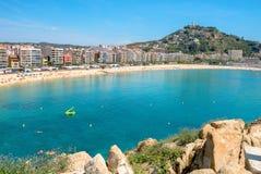 Blanes beach. Costa Brava, Catalonia, Spain Royalty Free Stock Images