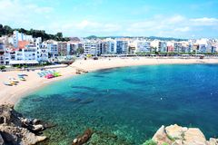 Blanes beach Stock Image