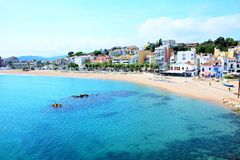 Blanes beach Royalty Free Stock Photography