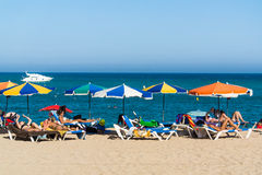 Blanes beach Royalty Free Stock Images