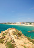 Blanes,Costa Brava,Spain. View of Blanes on the Costa Brava,Spain stock image