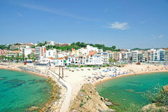 Blanes,Costa Brava,Spain. View of Blanes on the Costa Brava,Spain royalty free stock image
