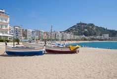 Blanes, Costa Brava, Spanien stockfotos