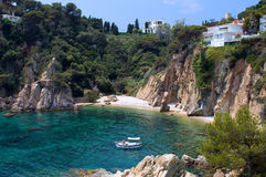 Blanes - cozy resort town . royalty free stock image