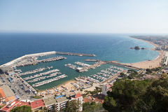 Blanes harbor Stock Photography
