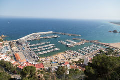 Blanes harbor Stock Images