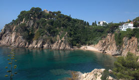 Blanes kust, Costa Brava Royalty-vrije Stock Foto's