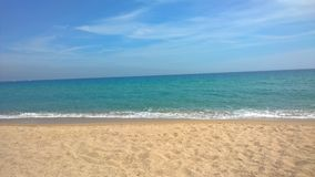 Blanes strand Arkivbild